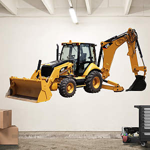 Cat Backhoe Loader Fathead Wall Decal
